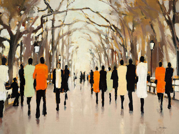 Poet Walk by artist Lorraine Christie Wrapped Canvas Art Print