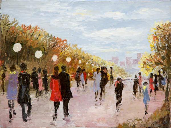 Lovers Autumn Walk