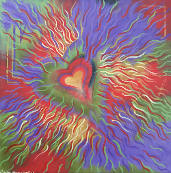 Intense energy original oil painting by Paula Manning-Lewis