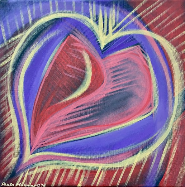 Big Love original oil painting on canvas by Paula Manning-Lewis