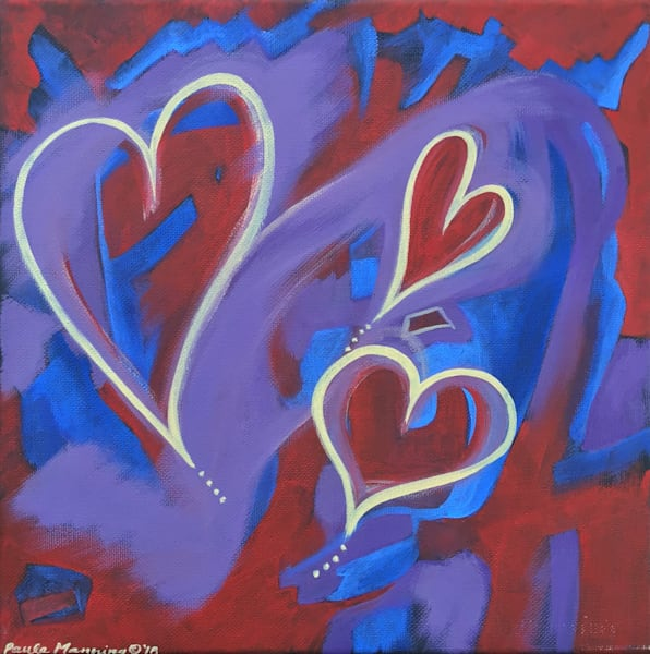 All I Speak is Love original oil painting by Paula Manning-Lewis