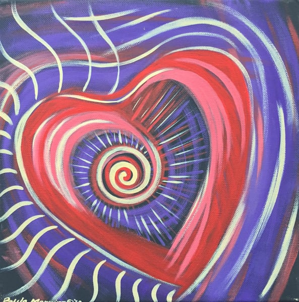 Waves of love original oil painting on canvas by Paula Manning-Lewis