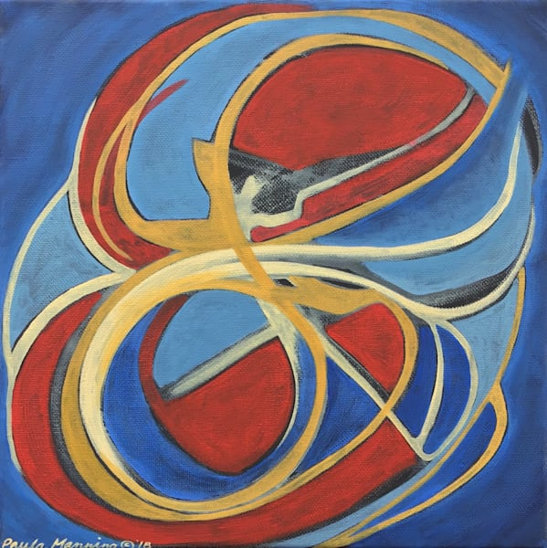 Balanced original oil painting on canvas by Paula Manning-Lewis.