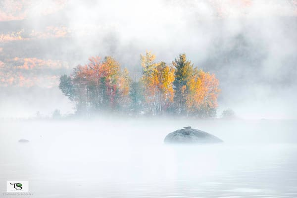 Vermont sunrise over Lefferts Pond/Fine Art autumn photography prints