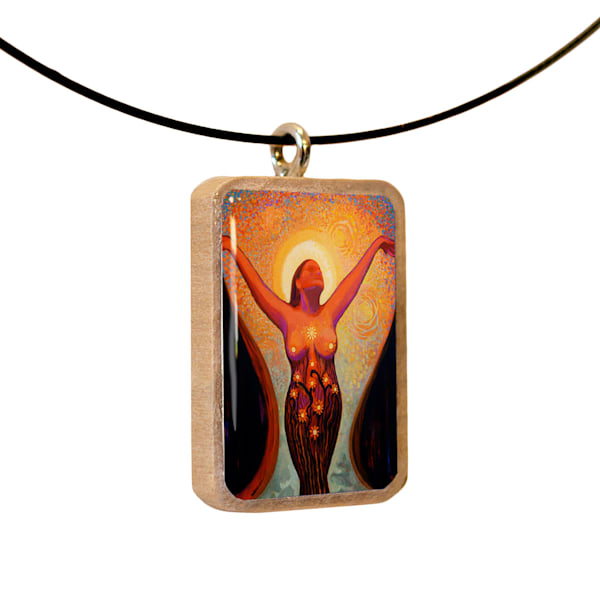 Enlighten handcrafted pendant, by Jenny Hahn