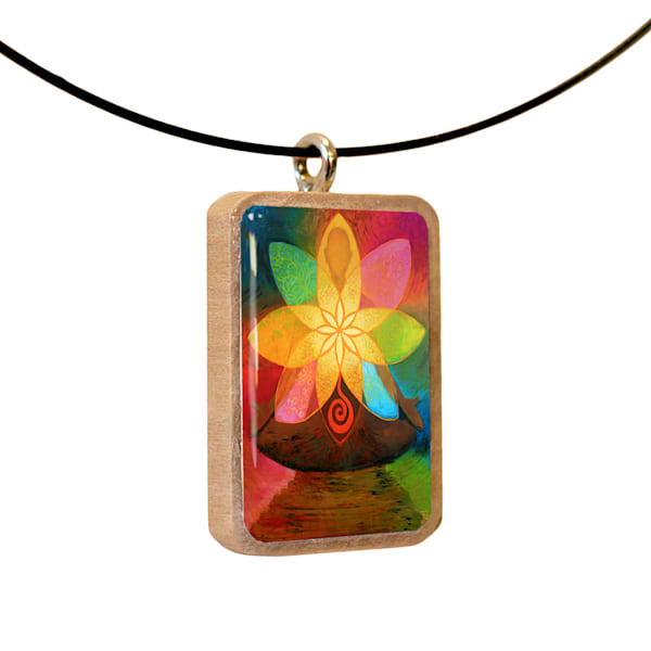 Flowering Heart handcrafted pendant, by Jenny Hahn
