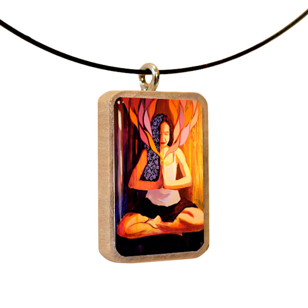 Illumination handcrafted pendant, by Jenny Hahn