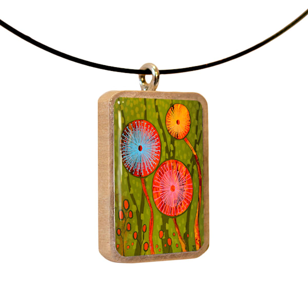Joy Blooming handcrafted pendant, by Jenny Hahn