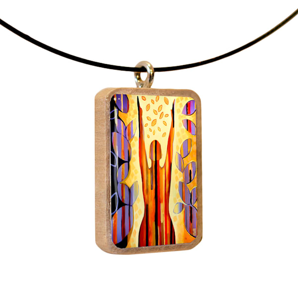 Joy Expressing handcrafted pendant, by Jenny Hahn