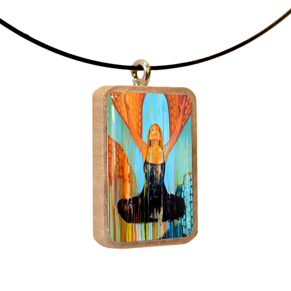 Oneness handcrafted pendant, by Jenny Hahn