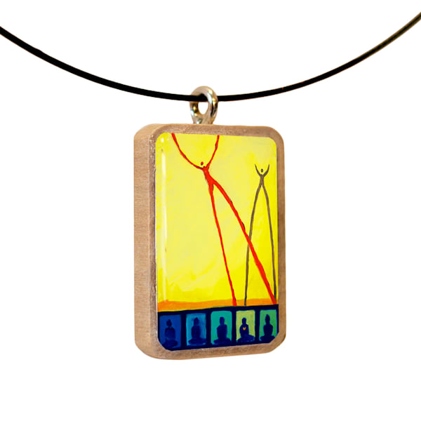 Recess handcrafted pendant, by Jenny Hahn