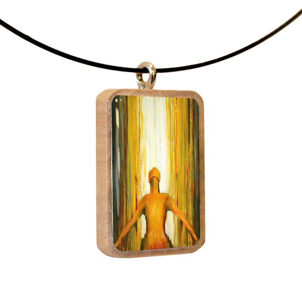 Surrender handcrafted pendant, by Jenny Hahn
