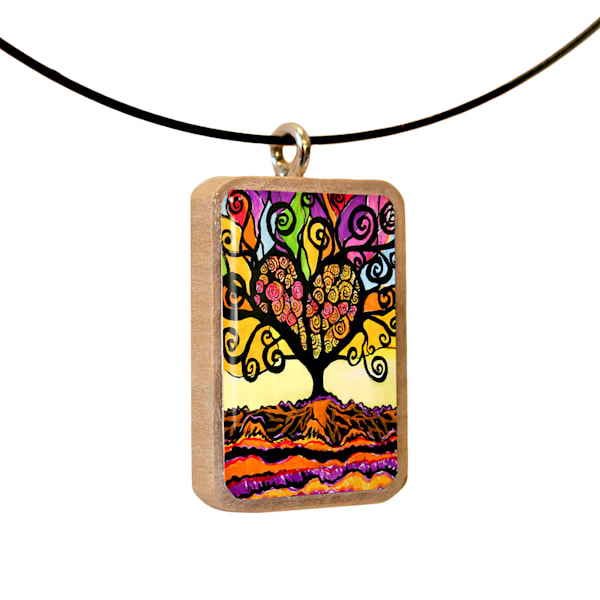 Tree of Love handcrafted pendant, by Jenny Hahn
