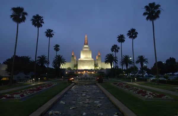 Oakland Temple - Dark Sky
