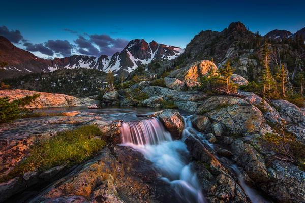 Pine Creek Lake Alpenglow