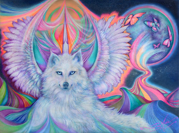 Majestic White Spirit Art | Joan Marie Art
