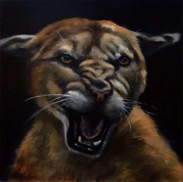 "16""x16"" Original Oil Painting ""Protector"""