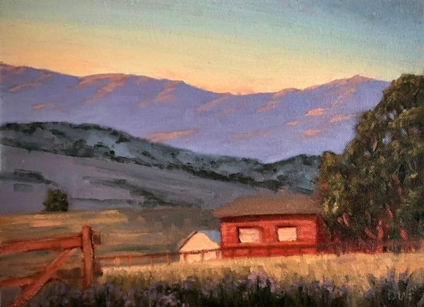 Red Barn At Sunset  Art | Terry Sauve Fine Art
