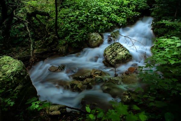 Flowing Stream At Cascade Falls, VA