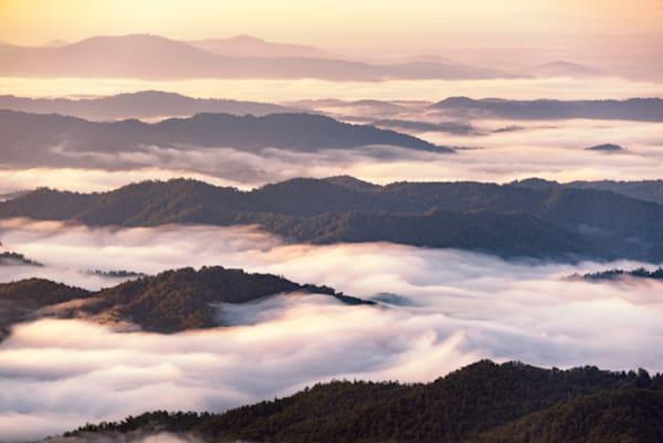 Foggy Ridges at Sunrise