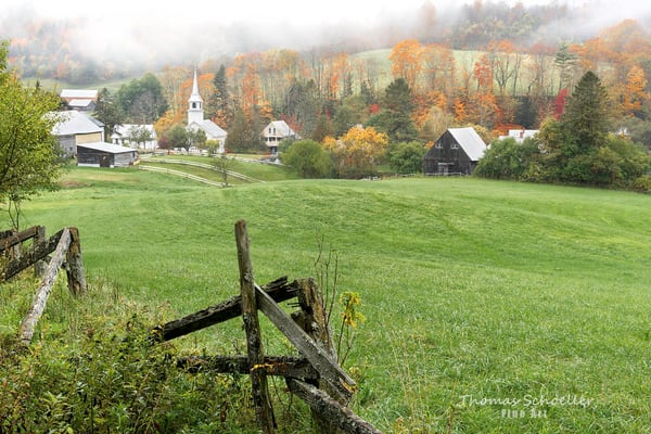 Village of East Corinth Vermont/fall foliage/Fine Art photography prints