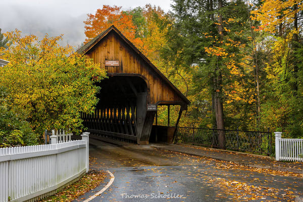 Woodstock Vermont/Old Middle Covered bridge?fine art photography prints by Thom Schoeller