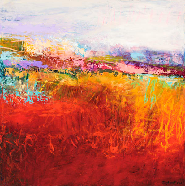 Bright Southwestern Abstract Landscape Painting.