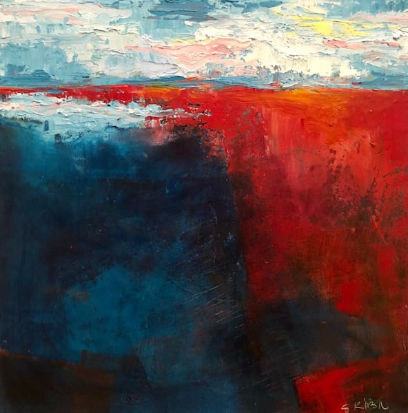 Textured Sky by Sharon Kirsh | SavvyArt Market original painting