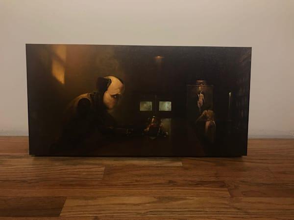 "Norm 24x12"" Wood Panel Art | Burton Gray"