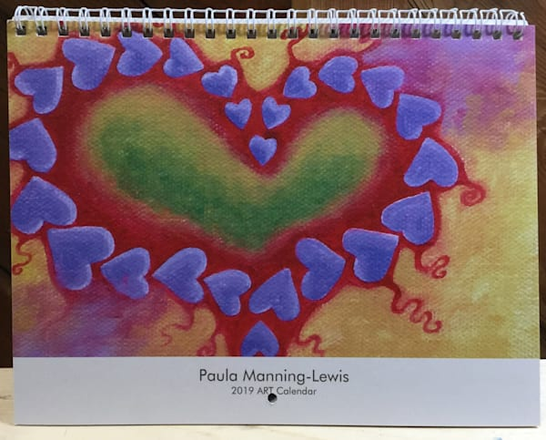 2019 Paula Manning-Lewis ART calendar with monthly quotes