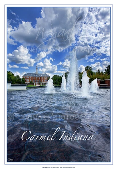 Carmel City Hall Fountain: Shop Fine Art Photography | Jim Wyant, Master Craftsman (317)663-4798