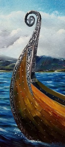Viking Knarr Bow Art | Kevin Lang Fine Art