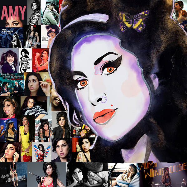 Amy Winehouse Art | William K. Stidham - heART Art