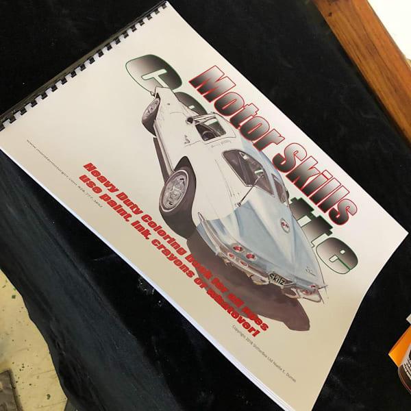 Corvette coloring book