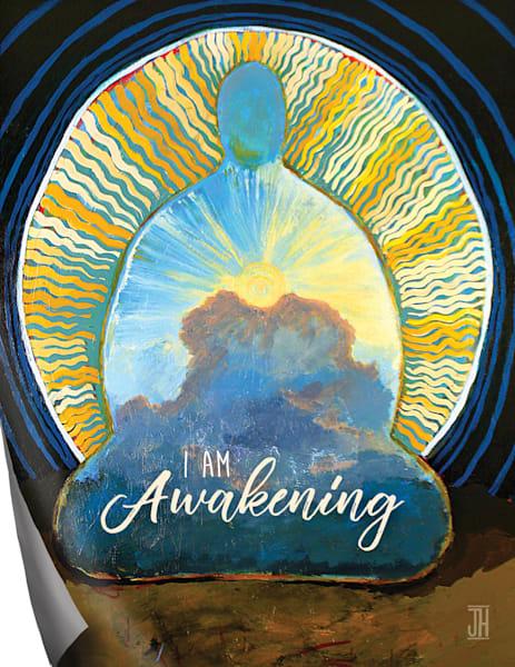 Awakening affirmation magnet, by Jenny Hahn
