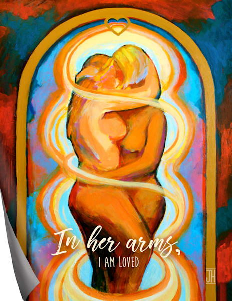 In Her Arms affirmation magnet, by Jenny Hahn