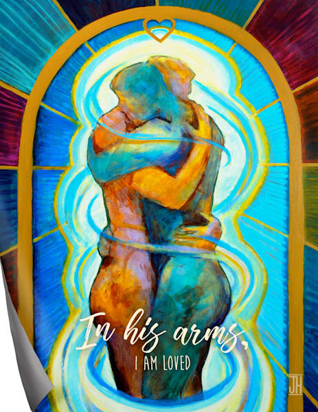 In His Arms affirmation magnet, by Jenny Hahn