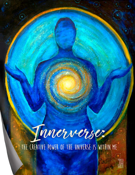 Innerverse affirmation magnet, by Jenny Hahn