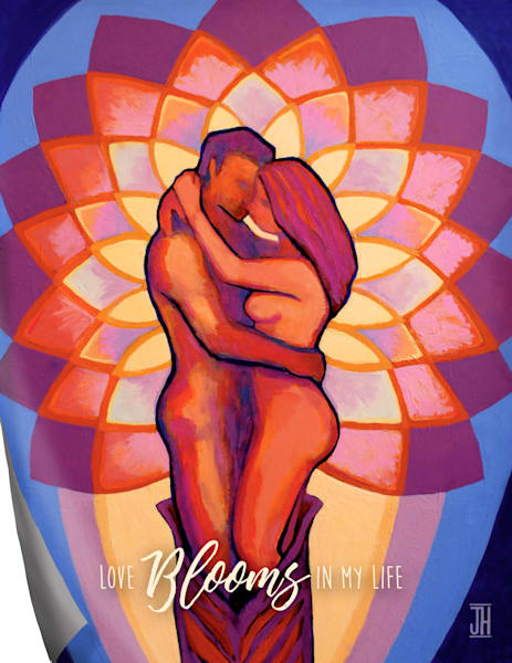 Lovers Bloom affirmation magnet, by Jenny Hahn