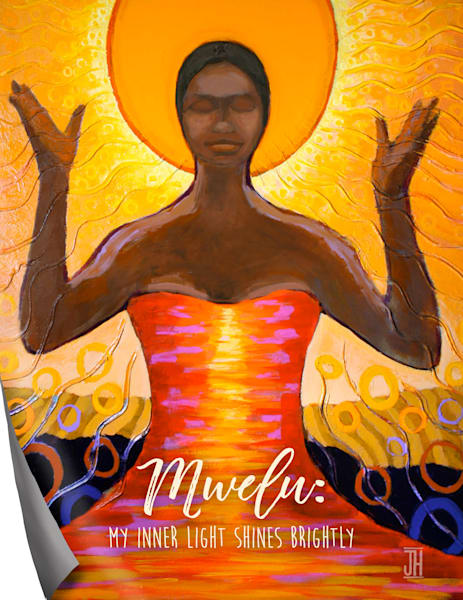 Mwelu affirmation magnet, by Jenny Hahn