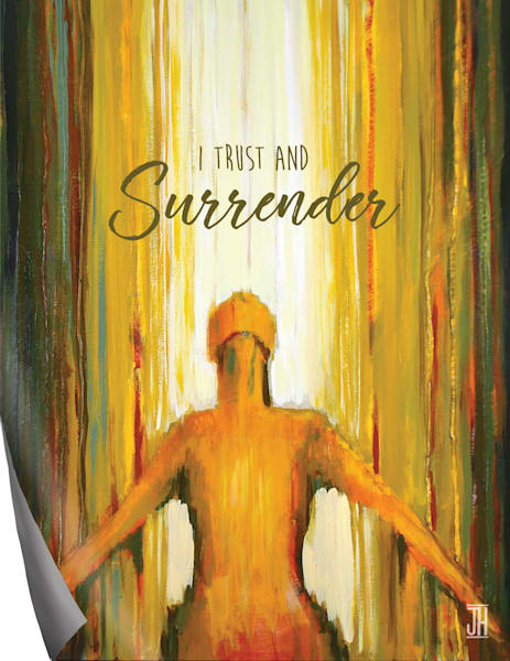 Surrender affirmation magnet, by Jenny Hahn