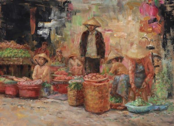 Hoi An Market Original Oil Painting