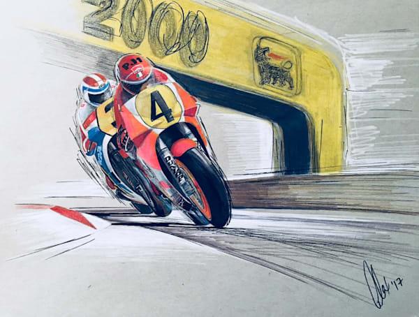 Roberts vs. Spencer 1983 | Motorart 27 Alex Wakefield Fine Art