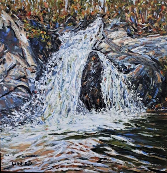 Hiawatha Falls by Darlene Winfield | SavvyArt Market original painting
