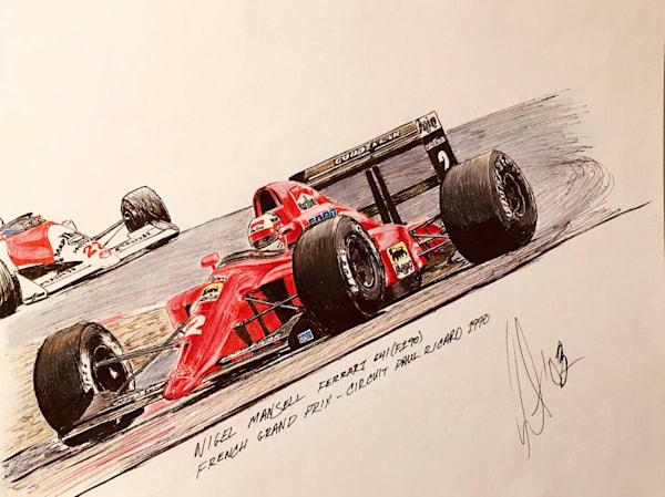 Nigel Mansell France 1990 | Motorart 27 Alex Wakefield Fine Art