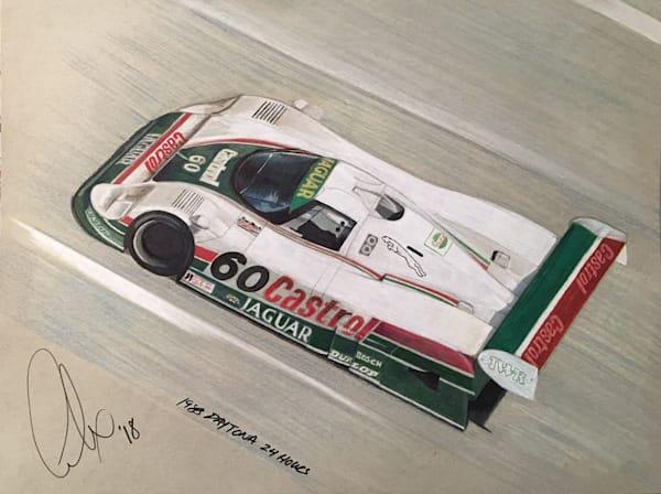 Martin Brundle Daytona 24 1988 Sketch | Motorart 27 Alex Wakefield Fine Art