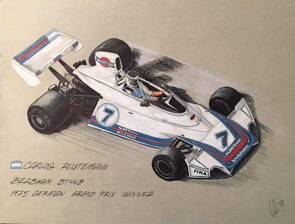 Reutemann Germany 75 Sketch | Motorart 27 Alex Wakefield Fine Art