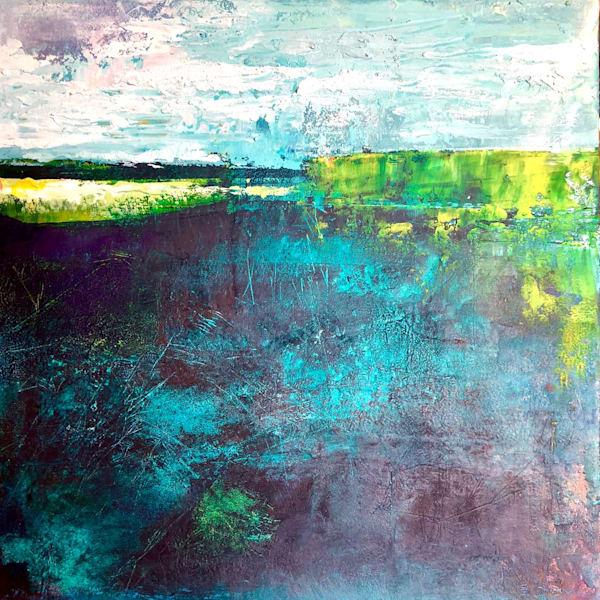 Turquoise Untitled by Sharon Kirsh   SavvyArt Market original painting