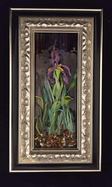 Single Purple Iris  Art | Art a la Carte Gallery (Karen Rexrode, Manager)