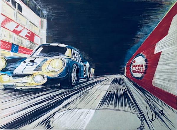 Daytona Coupe Reims 12 Hours 1965 - Color Comp | Motorart 27 Alex Wakefield Fine Art